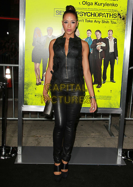 Dania Ramirez.'Seven Psychopaths' - Los Angeles Premiere Held At The Mann Bruin Theatre Westwood, California, USA..October 1st, 2012.full length black sleeveless leather top zip zipper trousers clutch bag.CAP/ADM/KB.©Kevan Brooks/AdMedia/Capital Pictures.