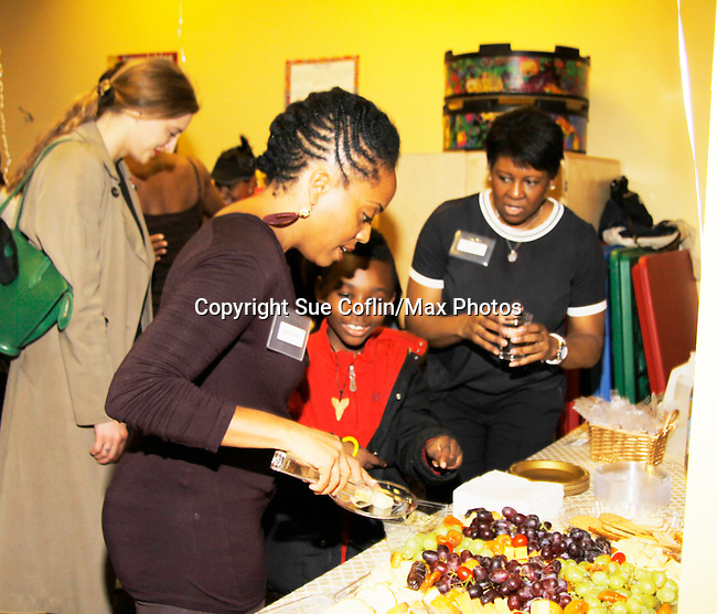 Rhonda Ross  and Dot - Hearts of Gold - Learning Center at Semiperm for the ribbon cutting ceremony was held on March 09, 2016 in New York, New York - Manhattan's Upper West Side - Deborah Koenigsberger, Rhonda Ross and Hearts of Gold (Photo by Sue Coflin/Max Photos)