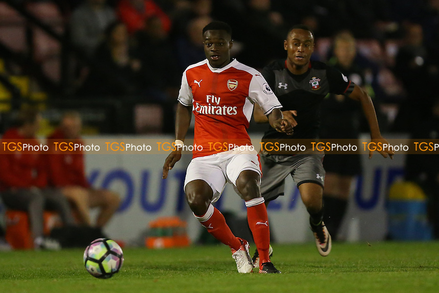 Marc Bola of Arsenal during Arsenal Under-23 vs Southampton Under-23, Premier League 2 Football at Meadow Park on 14th October 2016