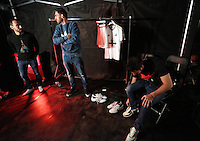 Pictured L-R: Leon Britton, Angel Rangel and Jordi Amat 01 April 2015<br />