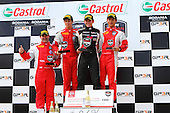 winners podium at the Nissan Micra Cup held during the GP3R in Three-rivers, Quebec