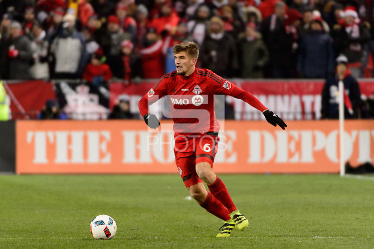 Toronto, ON, Canada - Saturday Dec. 10, 2016: Nick Hagglund during the MLS Cup finals at BMO Field. The Seattle Sounders FC defeated Toronto FC on penalty kicks after playing a scoreless game.