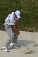 European Team player Sergio Garcia chips out of a bunker at the 16th green during the Morning Foursomes on Day1 of the Ryder Cup at Valhalla Golf Club, Louisville, Kentucky, USA, 19th September 2008 (Photo by Eoin Clarke/GOLFFILE)
