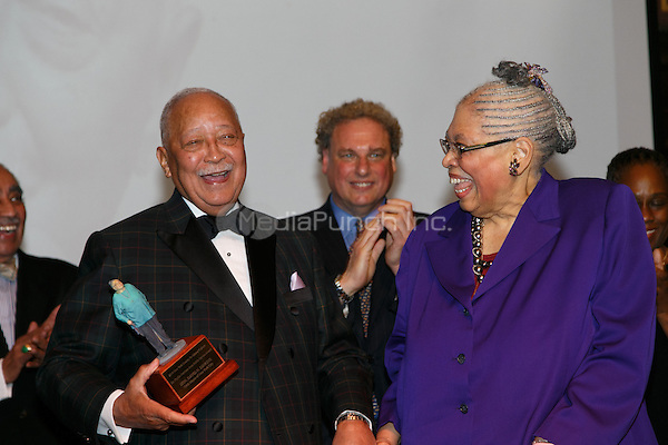NEW YORK, NY - APRIL 3: Hon. David N. Dinkins, Dr. Phyllis Harrison-Ross pictured as David N. Dinkins, 106th Mayor of the City of New York, receives the Dr. Phyllis Harrison-Ross Public Service Award for a lifetime of public service at the New York Society of Ethical Culture in New York City on April 3, 2014. Credit: Margot Jordan/MediaPunch