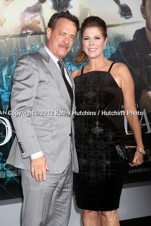 """LOS ANGELES - OCT 24:  Tom Hanks, Rita Wilson arrives at the """"Cloud Atlas""""  Los Angeles Premiere  at Grauman's Chinese Theater on October 24, 2012 in Los Angeles, CA"""