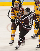 Mike Reilly (MN - 5), Shayne Gostisbehere (Union - 14) - The Union College Dutchmen defeated the University of Minnesota Golden Gophers 7-4 to win the 2014 NCAA D1 men's national championship on Saturday, April 12, 2014, at the Wells Fargo Center in Philadelphia, Pennsylvania.