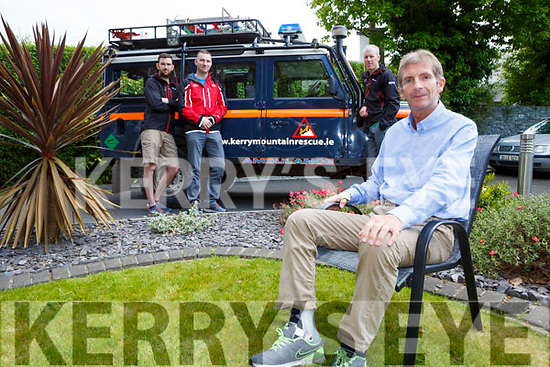 James Cahill with Sean Tangney Colm Burke and Michael Finn from Killarney Mountain Rescue