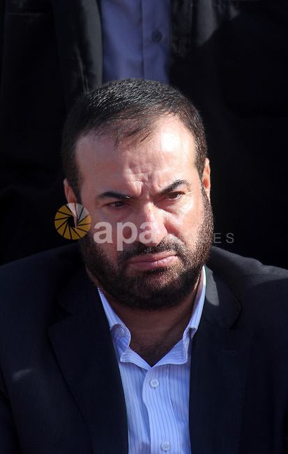 Hamas leader , Fathi Hammad attends a rally to mark the 23rd anniversary of the establishment of the Islamic Jihad movement and the assassination of the founder of their movement Fathi Shiqaqi , in Gaza city on Oct. 29,2010 . Photo by Ashraf Amra