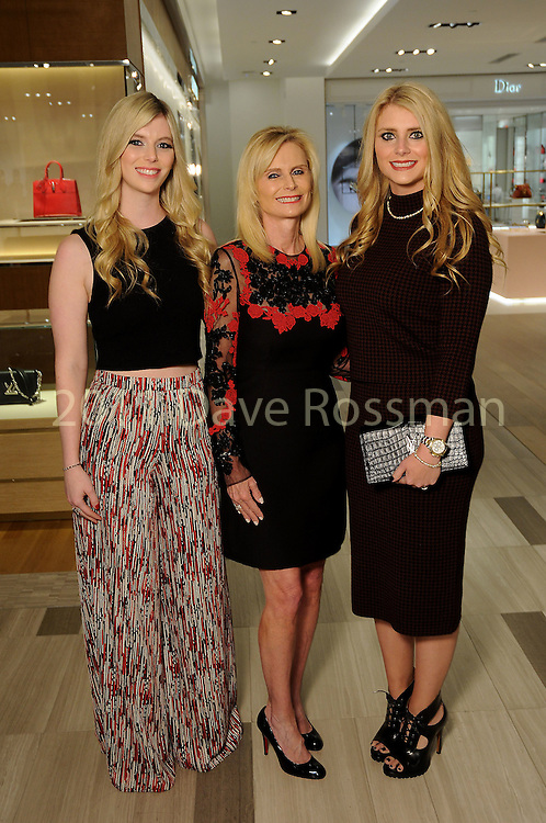 From left: Chairs Kimberly, Jo Lynn and Christine Falgout  at the Saks Fifth Avenue Key to the Cure benefitting Breast Care Centers at Memorial Hermann Wednesday Oct. 26,2016.(Dave Rossman photo)