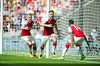 Arsenal Sead Kolasinac after scoring during the The FA Community Shield Final match between Arsenal and Chelsea at Wembley Stadium, London, England on 6 August 2017. Photo by Andrew Aleksiejczuk / PRiME Media Images.