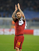 5th December 2017, Stadio Olimpic, Rome, Italy; UEFA Champions league football, AS Roma versus Qarabağ FK; The captain of AS Roma Daniele De Rossi
