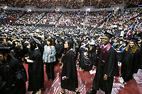Students during commencement<br />  (photo by Beth Wynn / &copy; Mississippi State University)