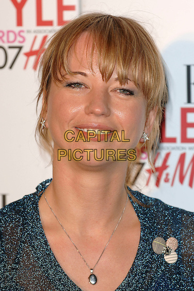 SARA COX.Attending The Elle Style Awards, Roundhouse, Camden, London, England, 12th February 2007..portrait headshot necklace sarah.CAP/ BEL.©Tom Belcher/Capital Pictures.