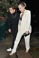 NON-EXCLUSIVE PICTURE: MATRIXPICTURES.CO.UK<br /> PLEASE CREDIT ALL USES<br /> <br /> WORLD RIGHTS<br /> <br /> Rafferty Law and Rita Ora spotted at Italian restaurant Harry's Bar in London.<br /> <br /> DECEMBER 2nd 2019<br /> <br /> REF: LTN 194244 .<br /> Credit: Matrix/MediaPunch ***FOR USA ONLY***