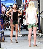 July 18, 2012: Elizabeth Olsen and Dakota Fanning shooting on location for new movie  the Very Good Girls in New York City.&copy; RW/MediaPunch Inc. *NORTEPHOTO.COM*<br /> **CREDITO*OBLIGATORIO** *No*Venta*A*Terceros*.*No*Sale*So*third* ***No*Se*Permite*Hacer Archivo***No*Sale*So*third*&Acirc;&copy;Imagenes*con derechos*de*autor&Acirc;&copy;todos*reservados* /*NORTEPHOTO.com*<br /> **SOLO*VENTA*EN*MEXICO**<br />  **CREDITO*OBLIGATORIO** *No*Venta*A*Terceros*<br /> *No*Sale*So*third* ***No*Se*Permite*Hacer Archivo***No*Sale*So*third*&Acirc;&copy;Imagenes*con derechos*de*autor&Acirc;&copy;todos*reservados*.