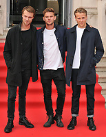 Hugh Skinner, Jeremy Irvine and Josh Dylan at the &quot;The Wife&quot; Film4 Summer Screen opening gala &amp; launch party, Somerset House, The Strand, London, England, UK, on Thursday 09 August 2018.<br /> CAP/CAN<br /> &copy;CAN/Capital Pictures