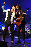 MIAMI BEACH, FL - MAY 18: Jonathan Russell and Matt Gervais of The Head And The Heart perform at the Fillmore on May 18, 2017 in Miami Beach, Florida. Credit MPI04r/MediaPunch © 2017