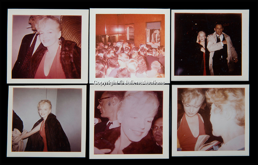 BNPS.co.uk (01202 558833)<br /> Pic: JuliensAuctions/BNPS<br /> <br /> These never before seen images come from Frieda Hull who was one of Marilyn Monroe's super six fans.<br /> <br /> A huge archive of candid photographs of screen siren Marilyn Monroe taken by a superfan she befriended has emerged for sale for a staggering £320,000.<br /> <br /> The collection includes more than 550 colour and black and white snaps, some of which have never been seen before, that were taken by fan-turned-friend Freda Hull.<br /> <br /> Monroe was notoriously guarded but welcomed Mrs Hull and her five friends into her inner sanctum, often giving them gifts and even once inviting them for a picnic at her home in Connecticut.<br /> <br /> The archive, which also boasts 150 colour slides, 750 stills from Monroe's films and a collection of personal home movies, is tipped to fetch £320,000 when it goes under the hammer at Julien's Auctions.