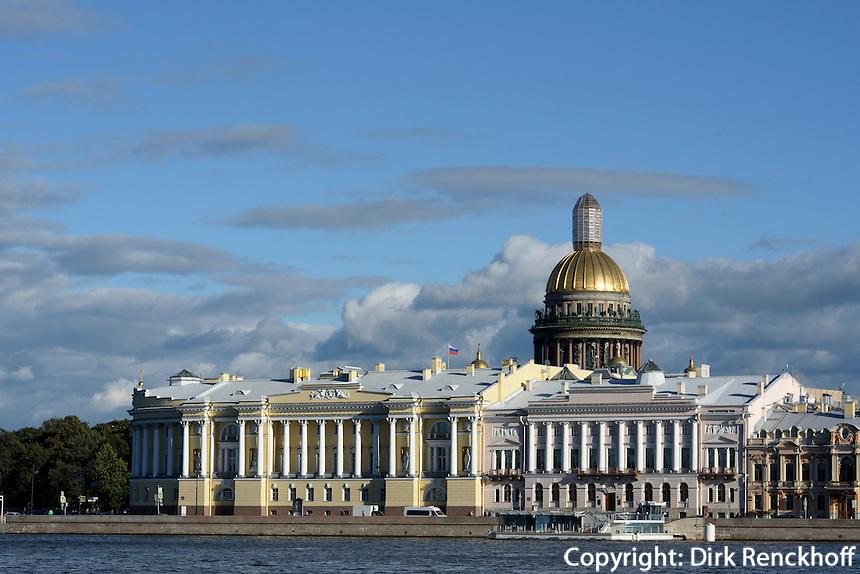 St. Isaakskathedrale und Nevaufer, St. Petersburg, Russland, UNESCO-Weltkulturerbe