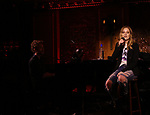 """Jorn Swart with Jackie Evancho in rehearsal for new show """"The Debut"""" inspired by the great tradition of Broadway musicals at Feinsteins/54 Below on June 11, 2019 in New York City."""