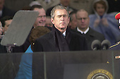 United States President  George W. Bush pauses for a moment at his Inauguration as 43rd President of the United States at the U.S. Capitol in Washington, D.C. on January 20, 2001..Credit: David N. Berkowitz for Newsweek - Pool via CNP.