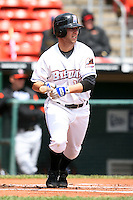 May 9, 2009:  Center Fielder Cory Sullivan of the Buffalo Bisons, International League Class-AAA affiliate of the New York Mets, at bat during a game at the Coca-Cola Field in Buffalo, FL.  Photo by:  Mike Janes/Four Seam Images