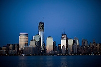 General view of World Trade Center from Exchange place in New Jersey .  Photo by Eduardo Munoz Alvarez / VIEW..