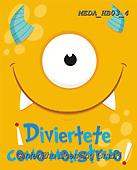Dreams, CHILDREN BOOKS, BIRTHDAY, GEBURTSTAG, CUMPLEAÑOS, paintings+++++,MEDAHB03/4,#BI#, EVERYDAY ,monster