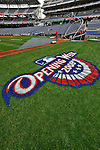 30 March 2008: The Washington Nationals infield is painted and ready for opening day and the inaugural game of Nationals Park between the Atlanta Braves and the Washington Nationals in Washington, DC. The Nationals christened their new ballpark with a 3-2 win over the visiting Braves...Mandatory Photo Credit: Ed Wolfstein Photo..Mandatory Photo Credit: Ed Wolfstein Photo