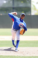Alvido Jimenez, Chicago Cubs 2010 extended spring training..Photo by:  Bill Mitchell/Four Seam Images.