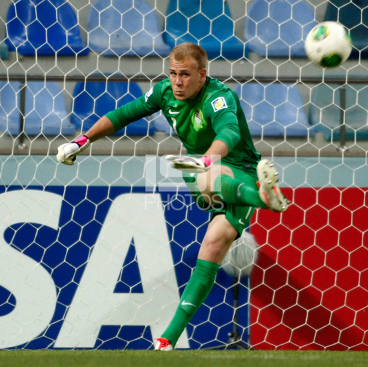 USA's goalkeeper Cody Cropper during their FIFA U-20 World Cup Turkey 2013 Group Stage Group A soccer match Ghana betwen USA at the Kadir Has stadium in Kayseri on June 27, 2013. Photo by Aykut AKICI/TURKPIX