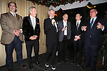 Shuler Hensley, Ian McKellen, Director Sean Mathias, Patrick Stewart, Billy Crudup and Producer Stuart Thompson attending the Broadway Opening Night Performance After Party for  'No Man's Land' / 'Waiting For Godot'  at the Bryant Park Grill in New York City on November 24, 2013.