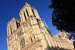 West front of Notre Dame cathedral. city of Paris. Paris. France