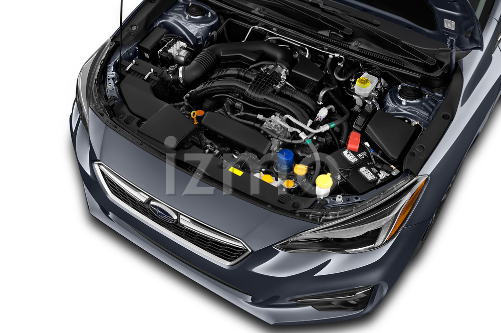 Car Stock 2018 Subaru Impreza 2.0i-Limited-CVT-PZEV 4 Door Sedan Engine  high angle detail view