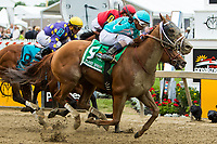 BALTIMORE, MD - MAY 20:  Whitmore  #5, ridden by Ricardo Santana Jr., wins the Maryland Sprint Stakes on Preakness Stakes Day at Pimlico Race Course on May 20, 2017 in Baltimore, Maryland.(Photo by Sue Kawczynski/Eclipse Sportswire/Getty Images)