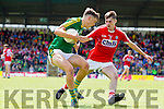David Clifford Kerry in action against Niall Collins Cork in the Munster Minor Football Final in Fitzgerald Stadium, Killarney on Sunday last.