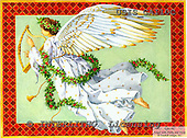 Ingrid, HOLY FAMILIES, HEILIGE FAMILIE, SAGRADA FAMÍLIA, paintings+++++,USISGAI10C,#XR# angels ,vintage