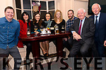 Morgan, Caroline, Jane-Ann and Rachel McKenna with Ciara McKenna Keane, Kevin Keane, James and Noel McKenna, at the Lispole GAA function at the Skellig Hotel in Dingle on Thursday night.