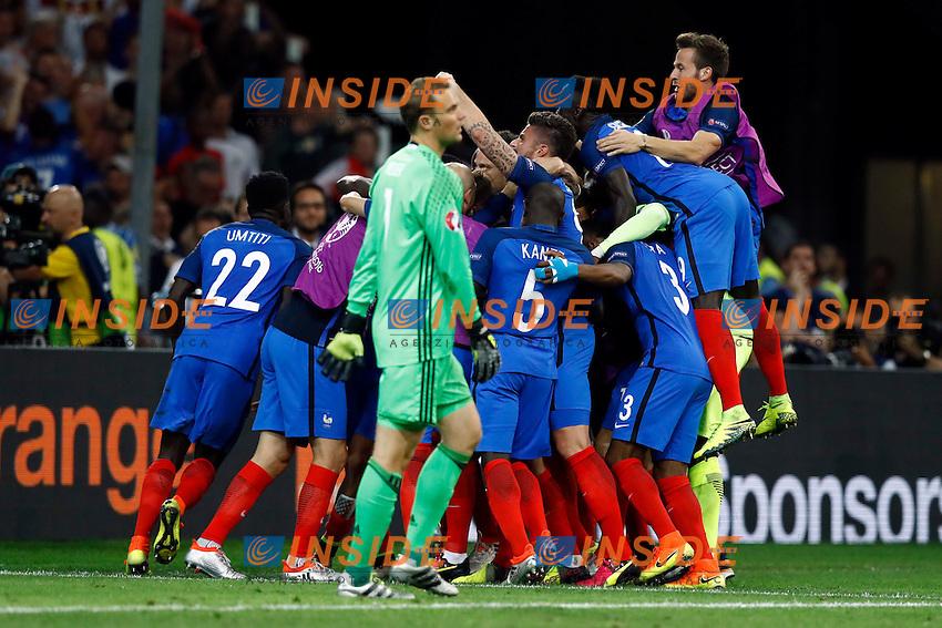 Esultanza Gol  Antoine Griezmann (France) goal celebration<br /> Marseilles 07-07-2016 Stade Velodrome Football Euro2016 Germany - France / Germania - Francia Semi-finals / Semifinali <br /> Foto Matteo Ciambelli / Insidefoto