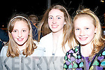 RACING FUN: Rachael McElligott, Sharon O'Mahoney and Saidhbhe Horagan all from Kilmoyley having a fun night out at the Scoil Naomh Eirc, Kilmoyley Night At The Dogs night at the Kingdom Greyhound Stadium on Friday night.   Copyright Kerry's Eye 2008