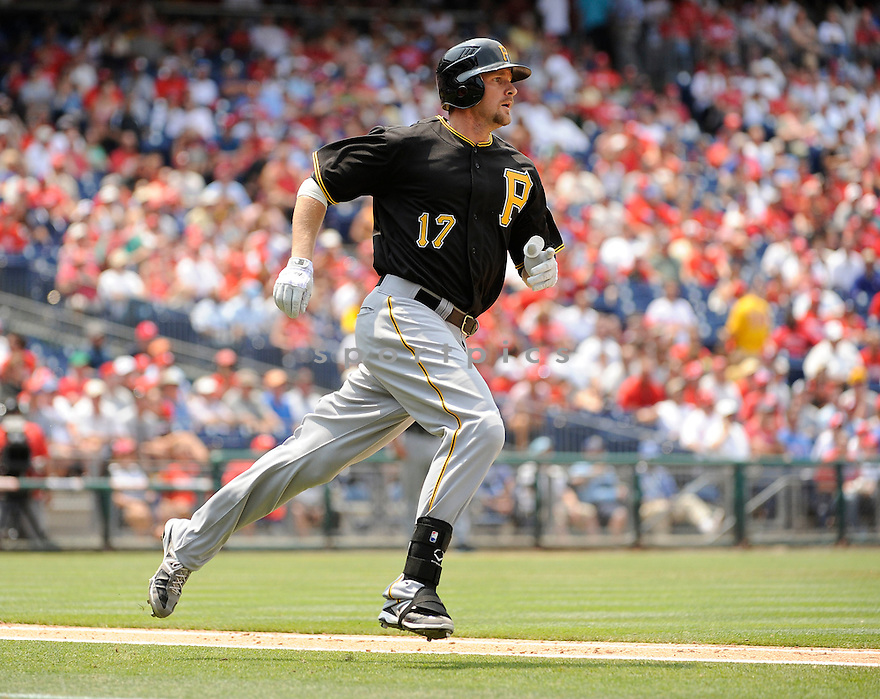 DREW SUTTON (17) of the Pittsburgh Pirates in action during the Pirates game against the Philadelphia Phillies on June 28, 2012 at Citizens Bank Park in Philadelphia, PA. The Pirates beat the Phillies 5-4.