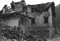 Venzone, Terremoto del Friuli del Maggio 1976.<br /> Venzone, Friuli earthquake in May 1976.