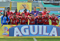 NEIVA  -COLOMBIA, 11-02-2017.Formación del Medellín. Acción de juego entre Atlético Huila  e Independiente Medellin  ,  encuentro  por la fecha 3 de la Liga Aguila I 2017  disputado en el estadio Guillermo Plazas Alcid ./  Team of Medellin.Action game between  of Atletico Huila  and Independiente Medellin during match for the date 3 of the Aguila League I 2017 played at Guillermo Plazas Alcid  stadium . Photo:VizzorImage / Sergio Reyes / Contribuidor