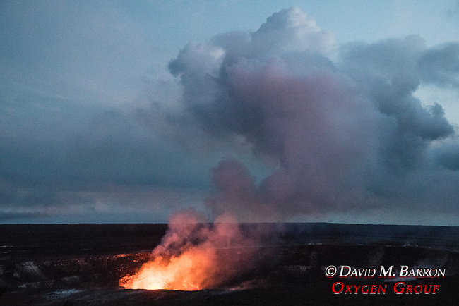 Glow Of Kilauea Volcano At Dusk