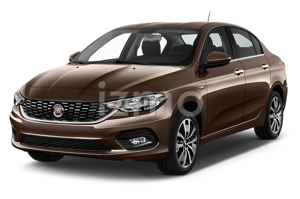 2016 Fiat Tipo Easy 4 Door Sedan Angular Front stock photos of front three quarter view