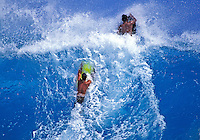 Body boarding at sandys beach on Oahu