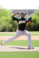 Jorge Pena, Oakland Athletics 2010 extended spring training..Photo by:  Bill Mitchell/Four Seam Images.