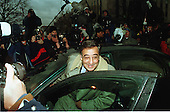 Former White House Chief of Staff Leon Panetta is surrounded by media as he gets into his car after testifying before the Grand Jury looking into the Lewinsky Affair at U.S. District Court in Washington, D.C. on January 28, 1998..Credit: Ron Sachs / CNP