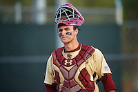 Boston College Eagles catcher Nick Sciortino (7) during a game against the Central Michigan Chippewas on March 8, 2016 at North Charlotte Regional Park in Port Charlotte, Florida.  Boston College defeated Central Michigan 9-3.  (Mike Janes/Four Seam Images)