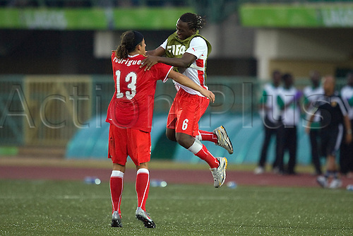 (L-R) Ricardo Rodriguez, Kofi Nimeley (SUI), OCTOBER 27, 2009 - Football : Ricardo Rodrigue of Switzerland celebrates with Kofi Nimeley during the FIFA U17 World Cup Group B match between Switzerland 4-3 Japan at the Teslim Balogun Stadium in Lagos, Nigeria. Photo by ETZEL ESPINOSA/actionplus. UK Licenses only.